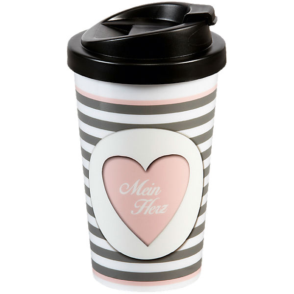 "Coffee to go Travel Mug ""Herz"""