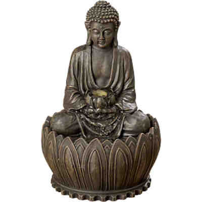dekofigur buddha mit windlicht h44 cm yomonda. Black Bedroom Furniture Sets. Home Design Ideas