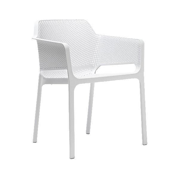 kunststoff gartenstuhl ella stapelbar wei yomonda. Black Bedroom Furniture Sets. Home Design Ideas