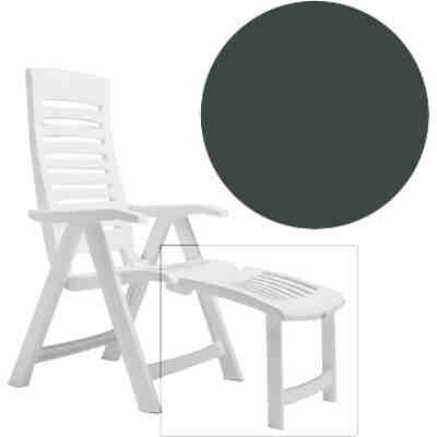 kunststoff sonnenliege lola klappbar mit rollen und aufbewahrungsbox grau yomonda. Black Bedroom Furniture Sets. Home Design Ideas