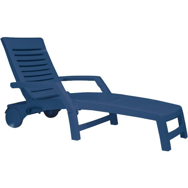 kunststoff sonnenliege lola klappbar mit rollen und aufbewahrungsbox blau yomonda. Black Bedroom Furniture Sets. Home Design Ideas