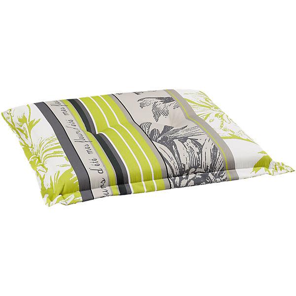 sitzpolster komfort fleurs f r gartenstuhl mit stehsaum. Black Bedroom Furniture Sets. Home Design Ideas