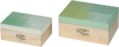 2-tlg. Holz-Kisten Set ´´Living in the Nature´´...