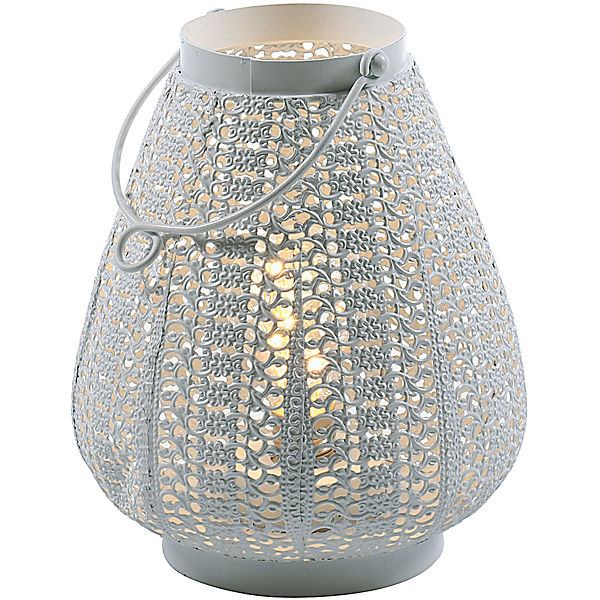 "LED Metall Laterne ""Romantik"" H29 cm"