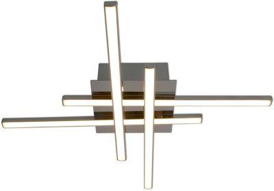 Näve LED-Deckenleuchte, 4 LED's  London, warmweiß, B30cm silber
