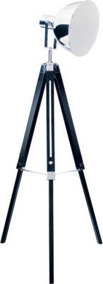 Näve Dreibein-Stehleuchte H90-130cm aus Kiefernholz silber