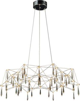 Näve LED-Pendelleuchte, Kristalleffekt, inkl. Leuchtmittel, Ø73cm silber