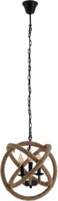 Näve Pendelleuchte  Ø43cm, L150cm schwarz