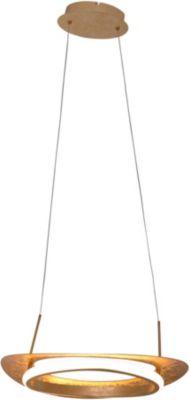 Näve LED-Pendelleuchte, inkl. Leuchtmittel, L120cm,Schirm B40cm, dimmbar gold