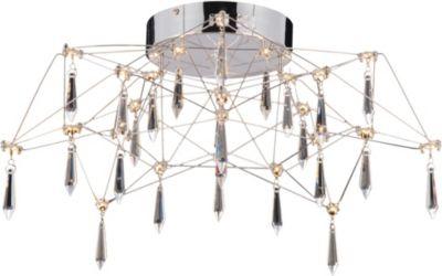 Näve LED-Kronleuchter, Kristalleffekt, inkl. Leuchtmittel Ø55cm silber