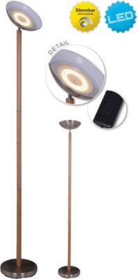 Näve Stehleuchte mit Buchenholz, inkl. Leuchtmittel, Ø28cm H192cm braun
