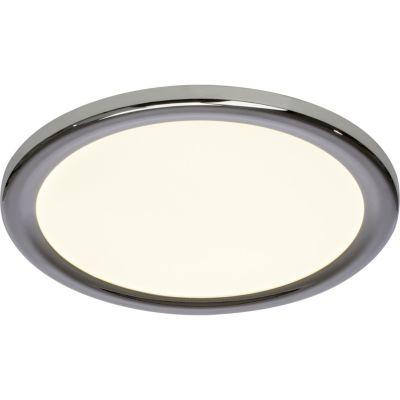 Brilliant Palin LED Wand- und Deckenleuchte 30cm chrom/weiß silber