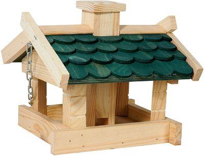Vogel-Futterhaus ´´Blockhaus´´ 21x22x17 cm grün...