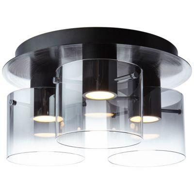 Brilliant Beth LED Deckenleuchte 3flg schwarz/rauchglas gold/schwarz