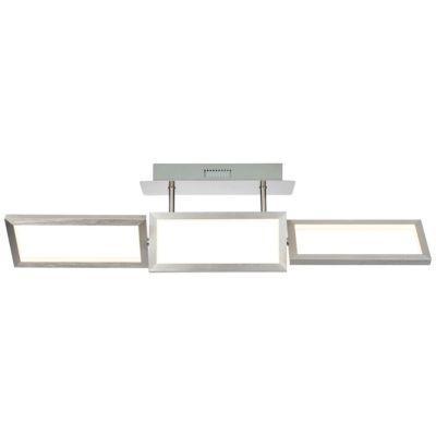 Brilliant Tunar LED Deckenleuchte 3flg alu grau