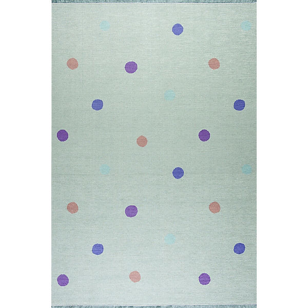 Kinderteppich, LOVE YOU DOTS mint/multi, 140 x 190 cm