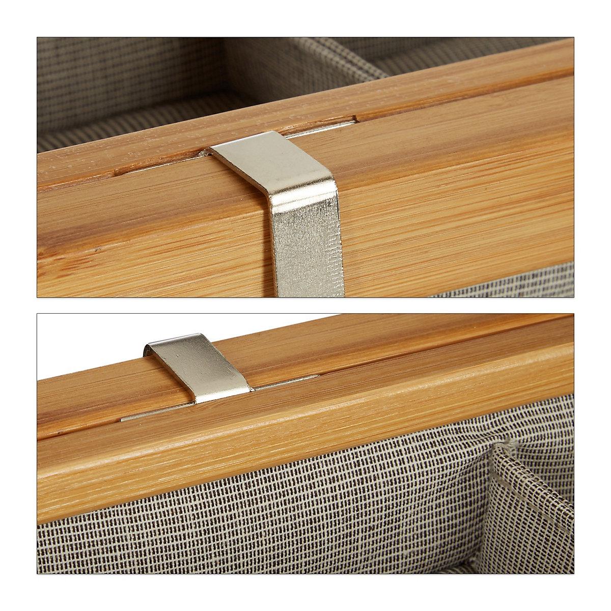 bambus badregal mit 3 k rben beige yomonda. Black Bedroom Furniture Sets. Home Design Ideas