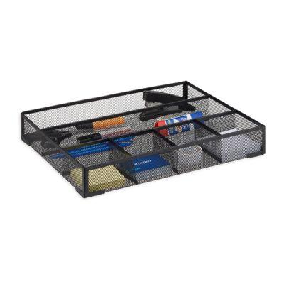 relaxdays Schreibtischorganizer Metall groß schwarz | Büro > Bürotische > Bürotische-Zubehör | relaxdays