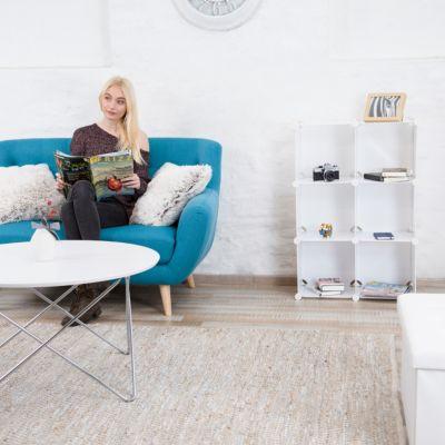 relaxdays Steck-Regal-System mit 6 Fächern weiß | Büro > Büroregale > Regalsysteme | relaxdays