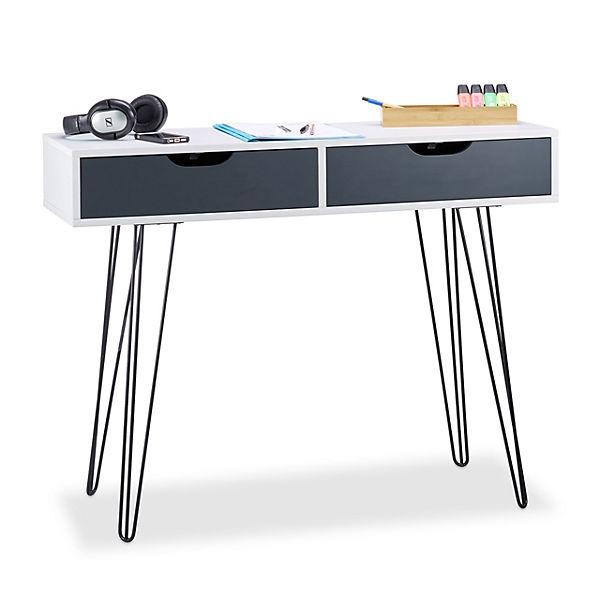 Schreibtisch Mit 2 Schubladen Weiß Yomonda