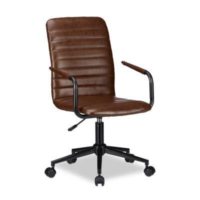 relaxdays Bürostuhl Drehstuhl Braun braun