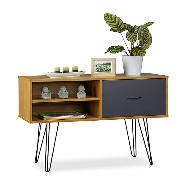 Holz Metal Sideboard Retro Braun Yomonda