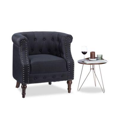 Chesterfield Sessel ´´Retro´´ schwarz