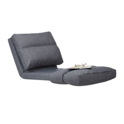 relaxdays Relaxliege Sessel faltbar grau Gr. 60 x 190 günstig online kaufen