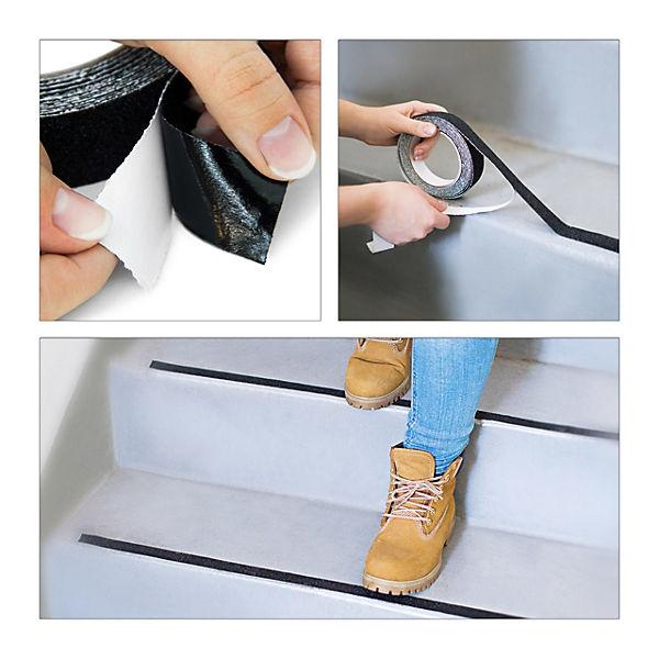 Antislip Grip Tape selbstklebend Innen /& Außen 3x Anti-Rutsch-Klebeband 15 m