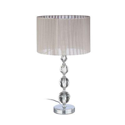 Kristall Nachttischlampe grau   Lampen > Tischleuchten > Nachttischlampen   Kristallglas   yomonda