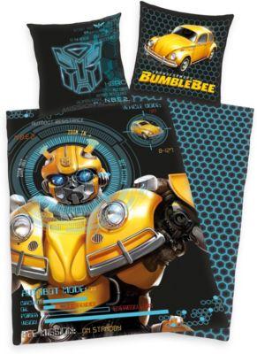 Herding Wende-Kinderbettwäsche Transformers Bumblebee, Renforcé, 135 x 200 cm | Kinderzimmer > Textilien für Kinder > Kinderbettwäsche | Baumwolle | Herding