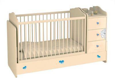 Polini-kids Kombi-Kinderbett mit Kommode