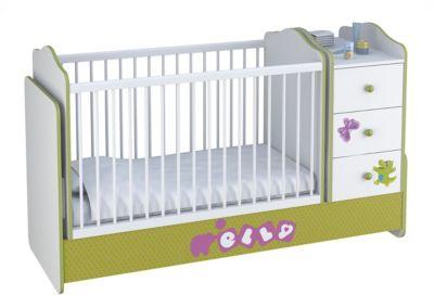 Polini-kids Kombi-Kinderbett Basic mit Kommode,