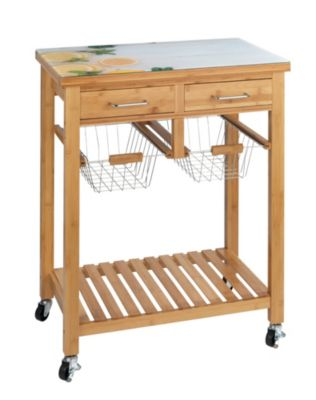 WENKO Küchenwagen Fresco, Bambus schwarz