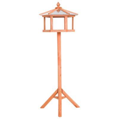 PawHut Vogelhaus mit Ständer und Zinkdach braun | Garten > Tiermöbel > Vogelhäuser-Vogelbäder | PawHut