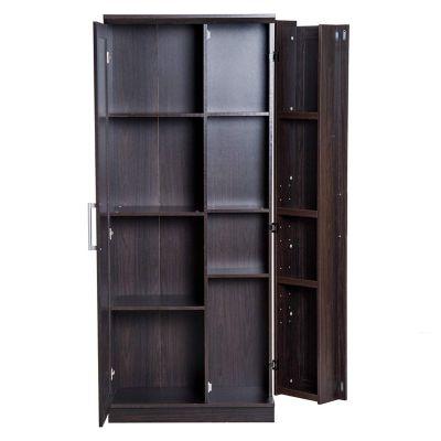 HOMCOM Küchenschrank mit sieben Einlegeböden braun Gr. 80 x 180