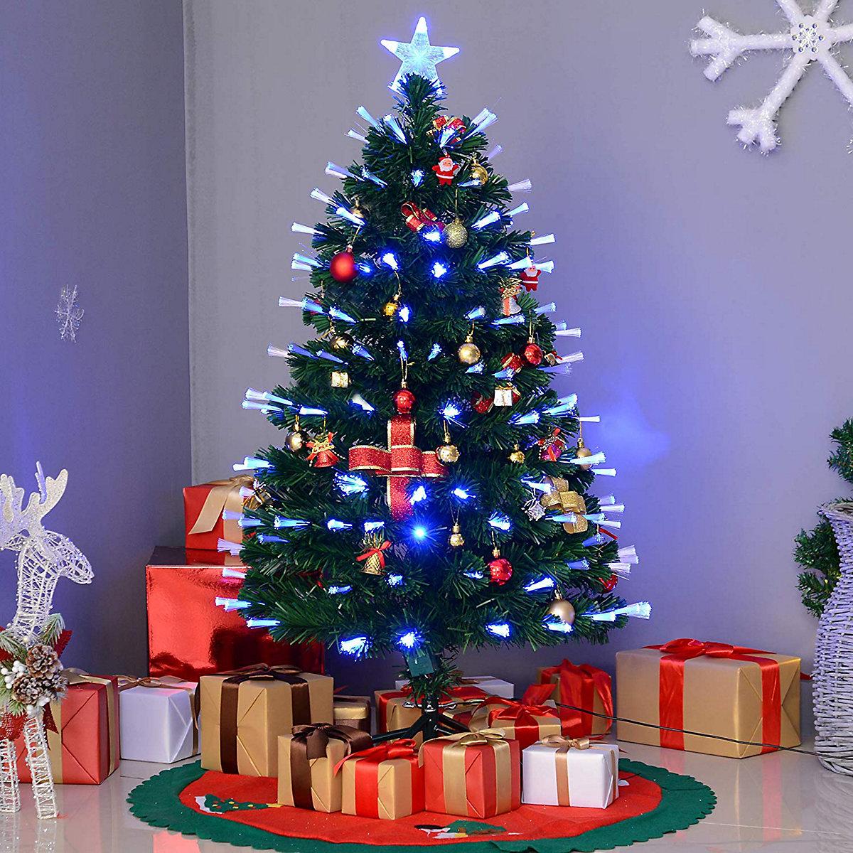 k nstlicher weihnachtsbaum mit metallst nder und led. Black Bedroom Furniture Sets. Home Design Ideas
