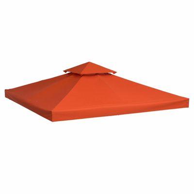 Outsunny Ersatzdach Metall-Pavillon 3 x 3 m (BxL) orange Gr. 175 x 300 Kinder