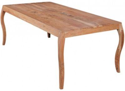 Massivholz Esstisch, H76 x B200 x T100 cm natur