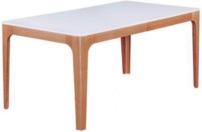 Esszimmertisch ´´Retro-Look´´, H76 x B160-220 x T90 cm beige/weiß