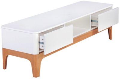 TV-Lowboard ´´Retro-Look´´, H45 x B150 x T45 cm beige/weiß