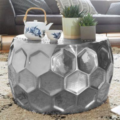 Aluminium Beistelltisch, H42 x Ø32 cm silber