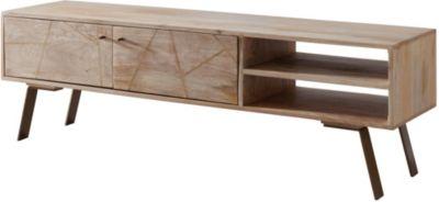 Mango Massivholz TV-Lowboard, H47 x B145 x T35 cm braun