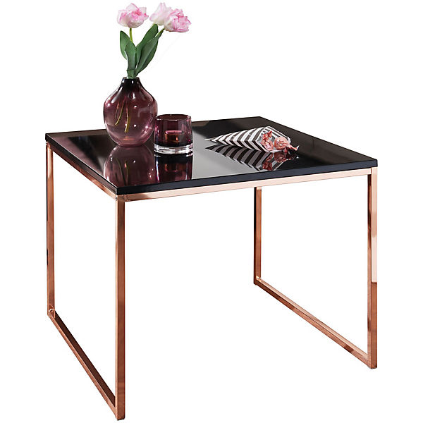 Couchtisch Mit Schwarzer Tischplatte H50 X B60 X T60 Cm Bronze