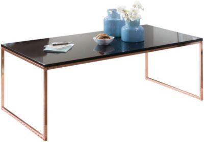 Couchtisch mit schwarzer Tischplatte, H45 x B120 x T60 cm kupfer