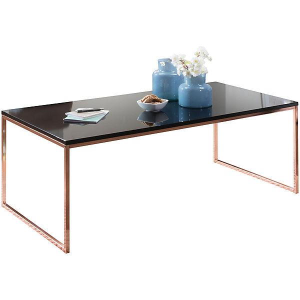 Couchtisch Mit Schwarzer Tischplatte H45 X B120 X T60 Cm Bronze