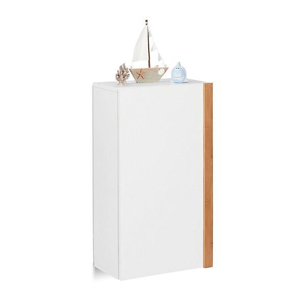 Bad-Hängeschrank, H 58,5 x B 32 x T 18 cm, weiß, relaxdays