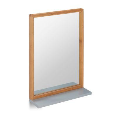 Wandspiegel mit Ablage, H 54,5 x B 38 x T 12 cm natur