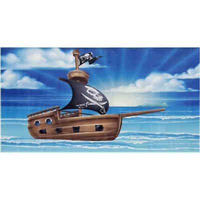 Kinderteppich Lovely Kids, Piraten Schiff, 80 x 150 cm