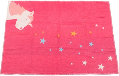 David Fussenegger Baby- und Kinderdecke Einhorn, pink, 100 x 140 cm | Kinderzimmer > Textilien für Kinder > Kinderbettwäsche | Pink | Flanell - Baumwolle - Viskose | david fussenegger
